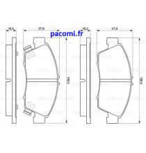 Plaquettes-Honda-0986461759