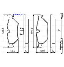 Plaquettes freins AR-598502 0986424027 Evasion