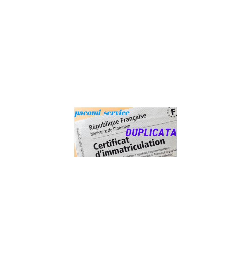 frais de carte grise Frais duplicata cat02 perte propriétaire de carte grise
